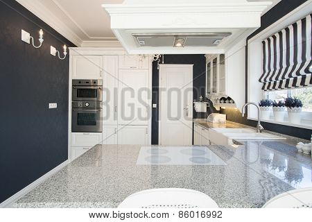 Marble Worktop In Expensive Kitchen