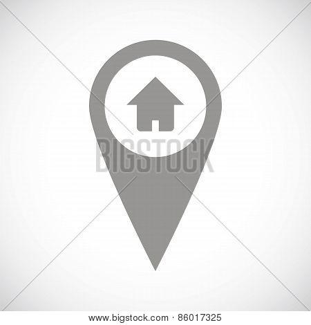 Home pointer black icon