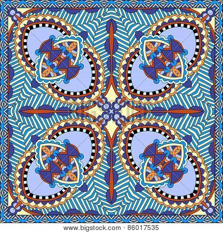 Traditional ornamental floral paisley bandanna