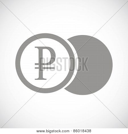 Rouble coin black icon