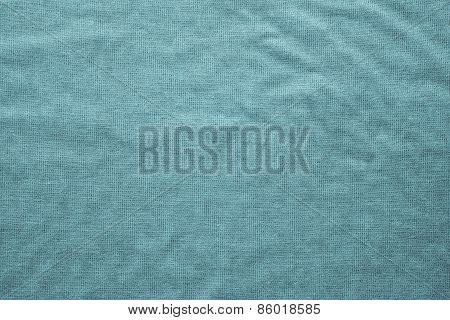 Rough Texture Fabric Of Turquoise Color
