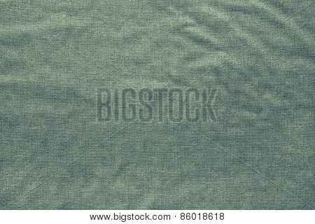 Rough Texture Fabric Of Green Color