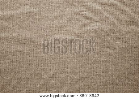 Rough Texture Fabric Of Sepia Color
