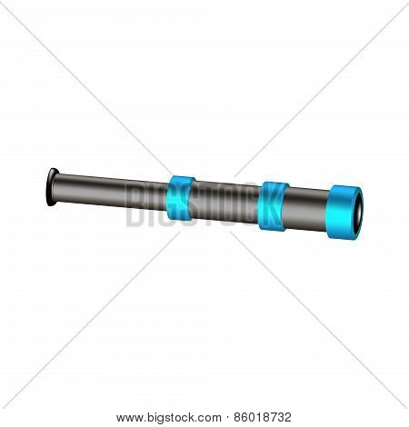 Vintage spyglass in black and turquoise design