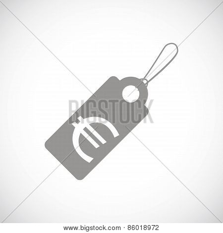 Euro tag black icon