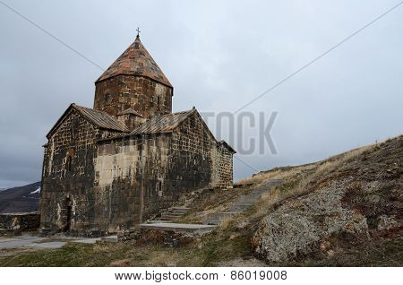 Surb Arakelots (holy Apostles) Church In Sevanavank Orthodox Monastery,Lake Sevan,Armenia