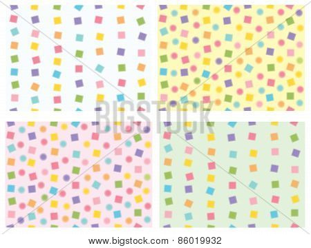 Vector  colorful seamless patterns.