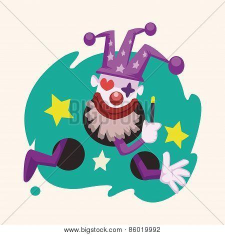Circus Theme Clown Elements
