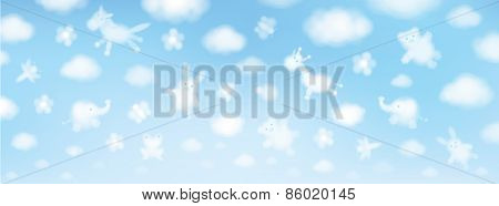 Vector sky background.