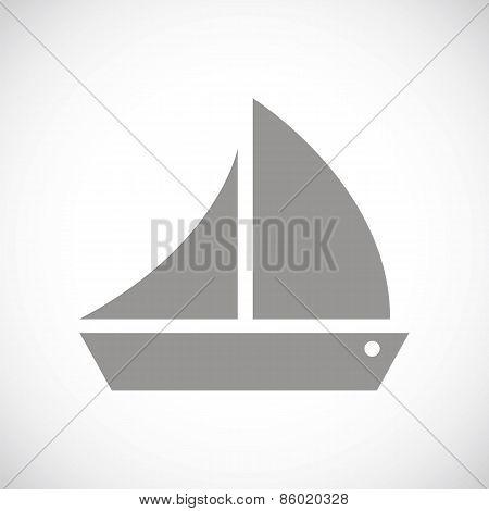 Ship black icon