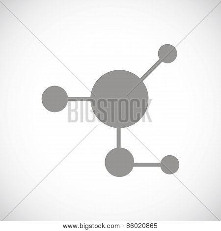 Atom black icon