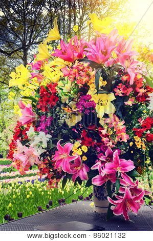 Beautiful Bouquet Of Various Flowers