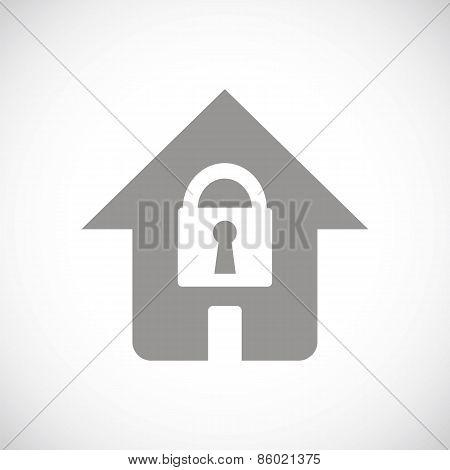 Lock black icon