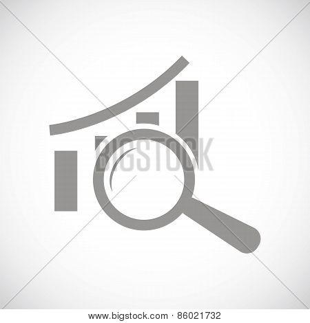 Graph scan black icon