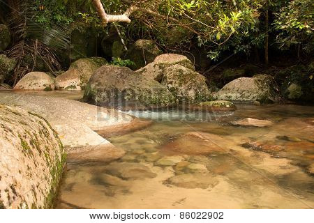 Mountin Stream On Tioman Island