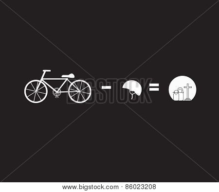 Vector Bicycle Riding Safety Helmet Campaign Concept