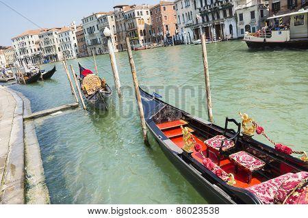 Gondola On The Venetian Lagoon