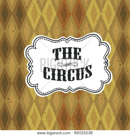 Circus Abstract Poster with Argyle Pattern
