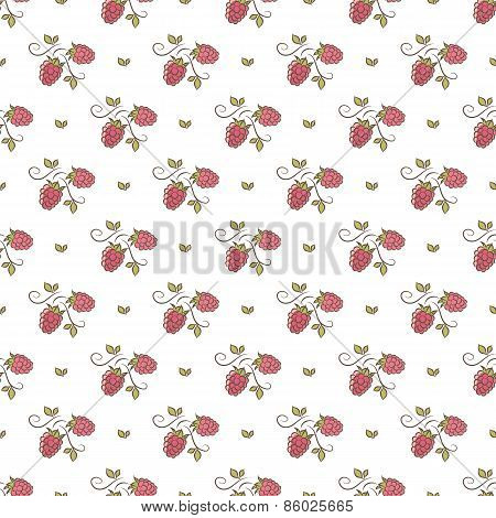 branches of raspberry pattern