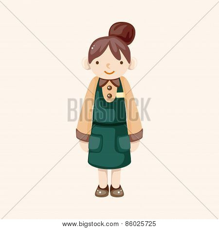 Waiter Theme Elements Vector,eps
