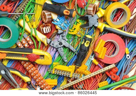 Electrical component kit and cables