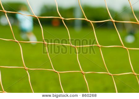 Close Up Of Soccer Net