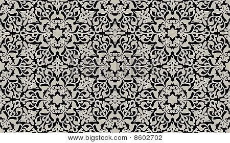 Arabic Floral Seamless Background.