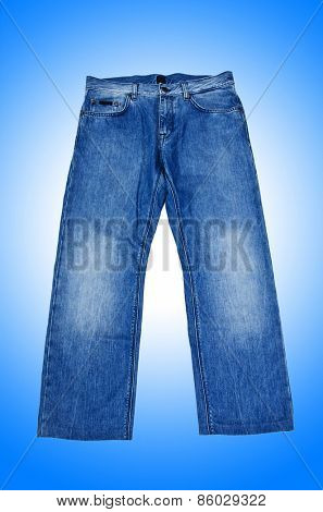 Pair of jeans isolated on the white