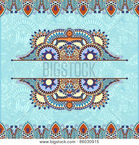 floral decorative invitation card, vintage paisley frame design