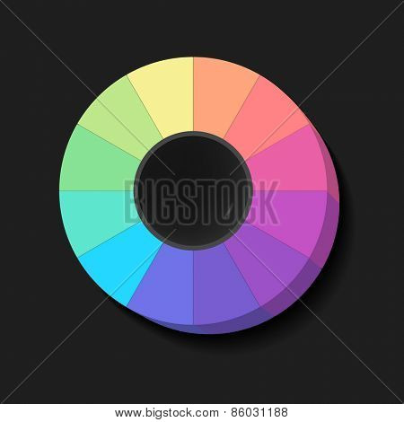 Colour Spectrum Circle, abstract background, vector eps10 illustration