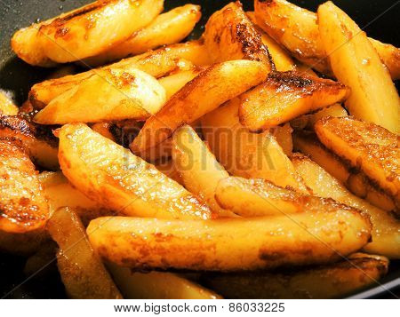 Fried Potatos With Sugar