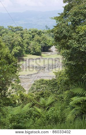Mysterious ruins of Guayabo de Turrialba in Costa Rica.