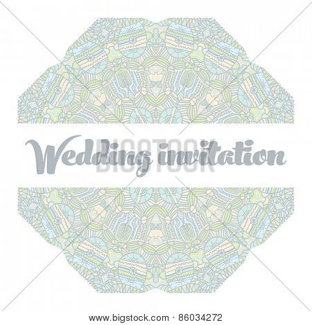 Beautiful abstract wedding invitation Vector illustration