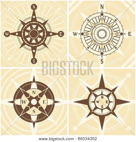 Vintage Compass Set