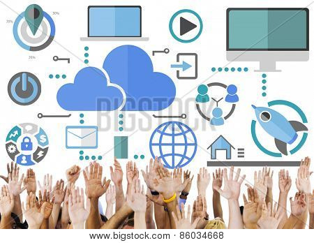 Big Data Sharing Online Global Communication Volunteer Support Concept