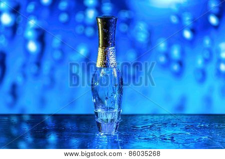 Blue Parfume Bottle