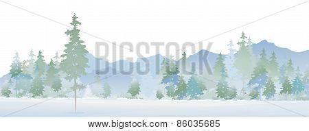 Vector winter landscape.