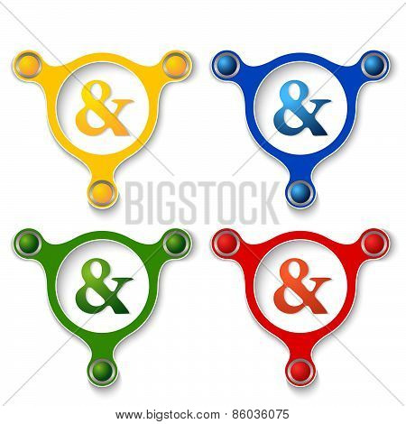 Colored Ampersand