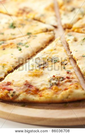 Pizza with Various Type of Cheese