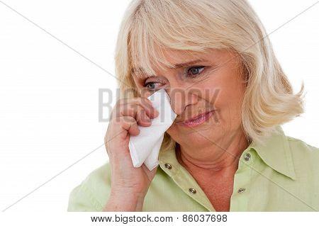 Senior Woman Crying.