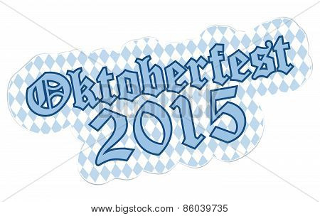 Patch With Text Oktoberfest 2015