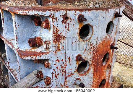Rusty Iron Twist On A Machinery