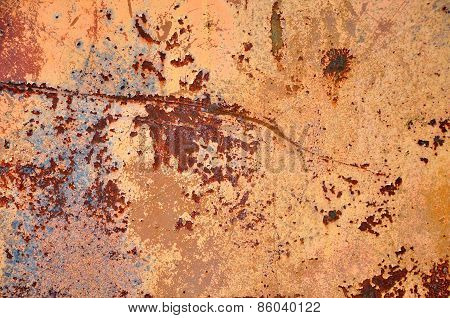 Rusty Grunge Metallic Background