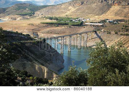 Iznajar reservoir.