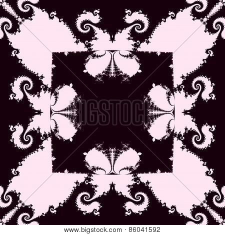 Abstract seamless decorative brown fractal mosaic with recognizable silhouettes of butterflies