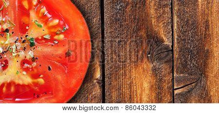 Tomatoe On Wood