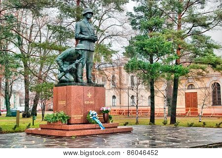 Hamina. Finland. Monument to Fallen Officers