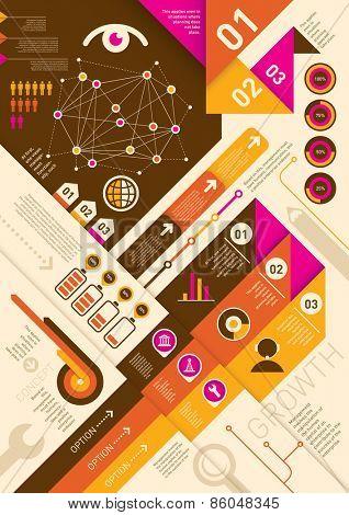 Modern info graphic background. Vector illustration.