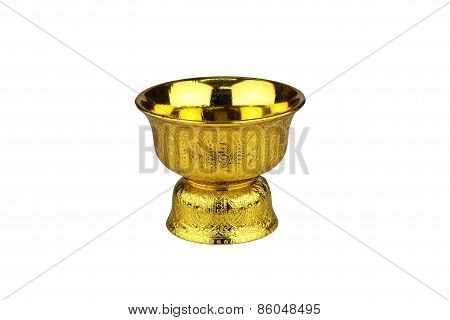 Gold Tray With Pedestal