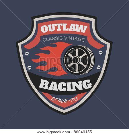 Sport racing typography, t-shirt graphics, vectors. T-shirt vintage printing designs